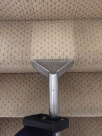 Stair Cleaning Tool In Action On Stair Carpet