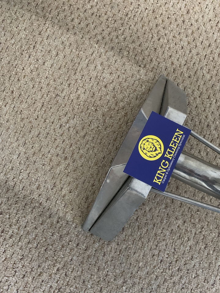 Close Up Of Floor Carpet Cleaning Tool On Dirty Carpet